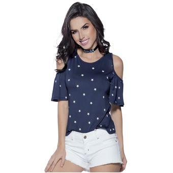 a9d200396 Agotado Blusa Juvenil Femenino Marketing Personal 85297 Azul Estampado