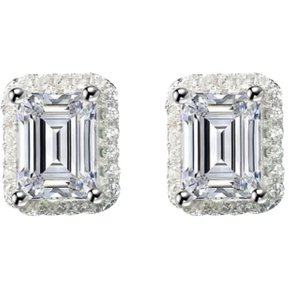 8b8d9a69b197 Aretes Corte Emerald Circonios Amour En Plata 925