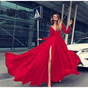 d2ecb7754 Vestido de Noche Generico para fiestas rojo