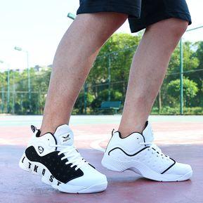 8d144d83c5 Zapatos De Baloncesto Para Hombre TENIS ZAPATILLAS Calzado Deportivo  -Blanco Y Azul