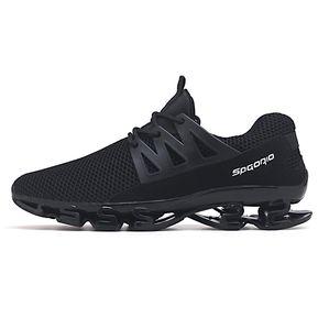 d5ade6e04c2 Zapatillas correr para hombre Zapatillas deporte amortiguación-Negro