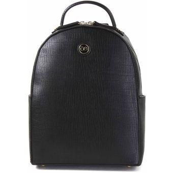 Bolso Backpack Rígido Texturizado Compra Cloe Negro Material 1Hqx6d