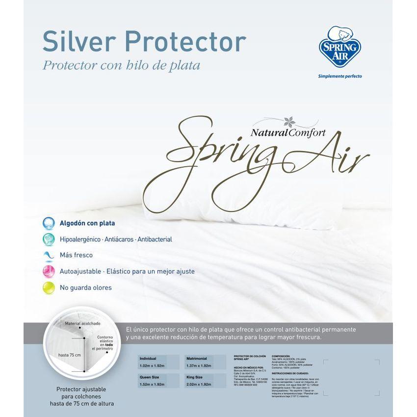 Protector de Colchón Acolchado Spring Air - Silver SP718HL0H7A4XLMX ApBq4p56 ApBq4p56 rGYr1UJT