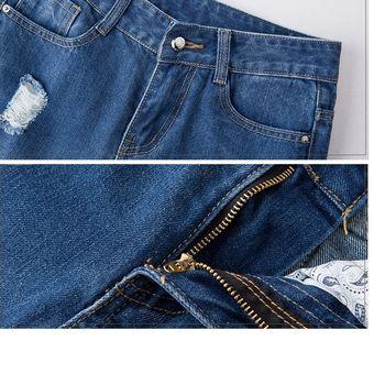 Mas El Tamano De Pantalones Vaqueros Rotos Azules Para Las Mujeres Delgados Linio Peru Ge006fa0lytyclpe