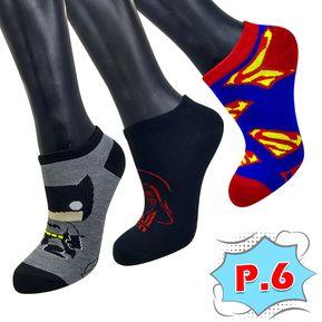 384cdb109d3b8 Medias Tobilleras Super Héroes X3 Unidades Adulto Calcetines P.6