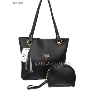 Bolso Cartera Mujer Dama Karla Chacon Ref Gady Color Negro d801f8da97a