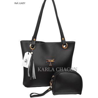 72e34cf00 Compra Bolso Cartera Mujer Dama Karla Chacon Ref Gady Color Negro ...