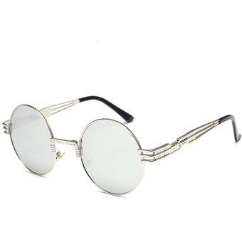 f1b56a4a7a Compra Gafas De Sol Moda Ronda Mujer Hombre-Gris Claro online ...