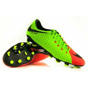 Compra Guayos Nike Hypervenom Phelon III-Verde Naranja online ... f198265d60145