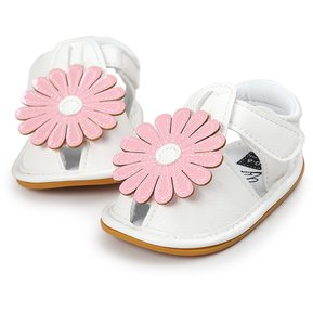 82226e340fcd Zapatos De Bebé De PU Con Decoración Flor Sandalia De Bebé - Rosa Flor