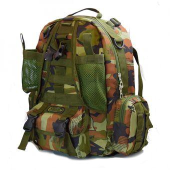 36d23e38ff1 Mochila Estilo Militar Noarua BAGM01 Outdoor Camping - Verde Camuflado