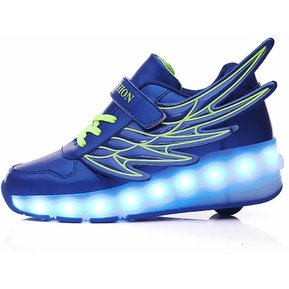 37bb2f01 Zapatos de LED patín ruedas para niños-zapatillas carga USB-Azul