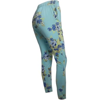 Pantalon Aladino Flores Mujer Para Bombacho Mcl Con Azul kZTXOPiu