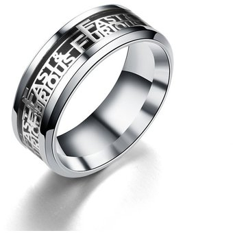 EY Precioso anillo de acero titanio Unisex Moda Mujer Hombre dedo-Silver b8cf0b36ed2