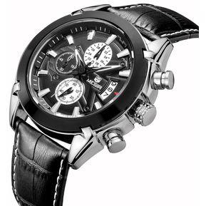 9883e343f82f Reloj Megir ML 2020 Impermeable Japones De Cuarzo Negro
