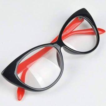1012558ffa Monturas Para Lentes Lente Gafas CATEYE Cat Eye Cat´s Eye Negro Brillante  Con Rojo