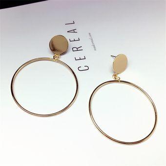 0eef43a62d58 Compra Pendientes redondos grandes y elegantes-Oro online