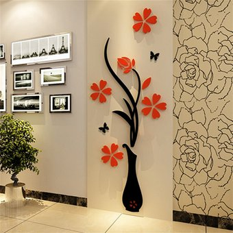 Compra vinil decorativo 3d para pared dise o de flores for Accesorios decorativos salon