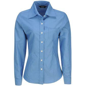 4559fd5492 Blusa Manga Larga Oxford Mujer Uniforme Empresarial Ejecutivo Oficina Color-Azul  Francia