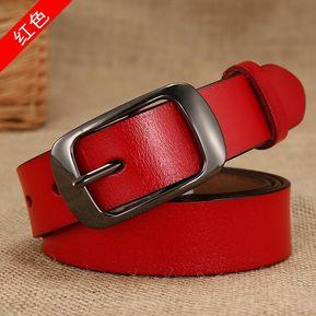 Cinturón de mujer Cinturón de cuero salvaje Correa coreana-100CM-Rojo 73228092bbed