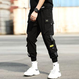 Pantalones De Chandal Negros Para Hombre Verano Hip Hop Bolsillos Grandes Pantalones Cargo Para Hombre Ropa De Calle De Primavera Monos Pantalones De Chandal Pantalones Harem Chun Linio Peru Ge582fa0nfaa3lpe