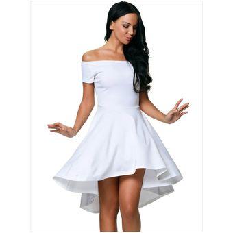 mejor servicio 98f3e 1089f Vestido elegante para fiestas Generico Para Mujer -Blanco