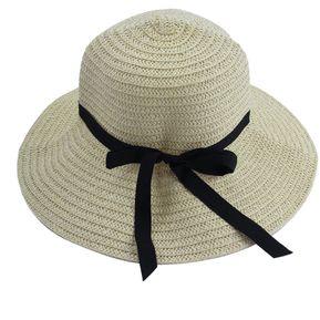 ER Moda Chicas Mujeres Elegantes Sombreros De Sol Al Aire Libre En Verano  Caps Playa Hat c49fe41de38