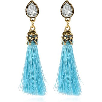 f4adf5cd25c1 Agotado Aretes De Moda Para Mujeres Un Par De Accesorios De Señora De  Cristal