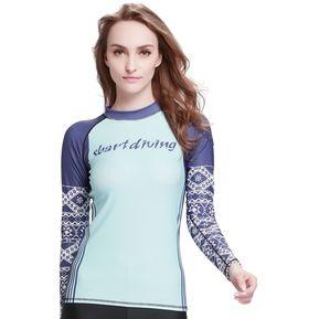 Traje De Baño Mujer De Verano Manga Larga Camisetas Proteccion Solar  Digital20 8ba13335b93