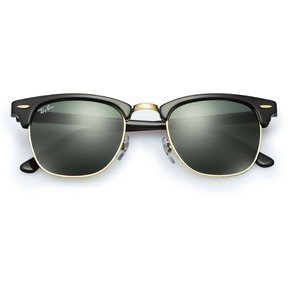 Ray Ban Clubmaster 3016 W0365 Marco Negro Lente Verde Gafas De Sol ecb9e001e3ee