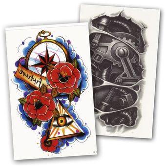 Compra Combo 2 Tatuajes Grandes Illuminati Mechanical Temporales