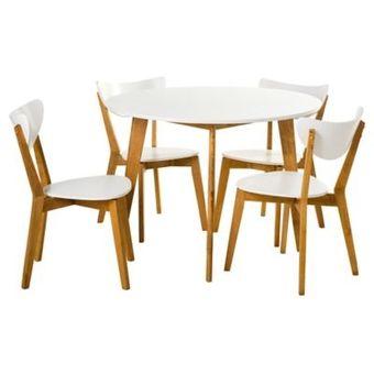 Compra Juego de comedor 4 sillas blanco HOMY online | Linio Chile