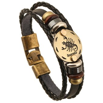 7f54510c63be 2 pcs par amantes de joyas detalle de cuero trenzado pulsera de ...