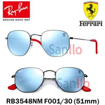 fc218fa868f Lentes De Sol Ray Ban Hexagonal RB3548NM F001 30 Scuderia Ferrari Collection
