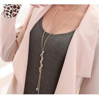 accf2a4f385e 8mm Moda Joyas Cadena Suéter Collar Colgante Largo Estilo Vintage Para Mujer  - Oro