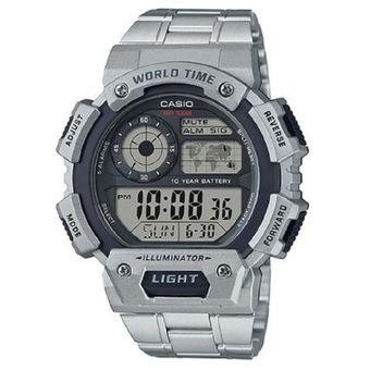 72c7f05f91b0 Compra Reloj Casio AE-1400WHD-1A Digital Plateado Para Hombre online ...