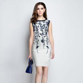 018548621 Mujer Vestido Sin Mangas Tailun-Cool-Blanco