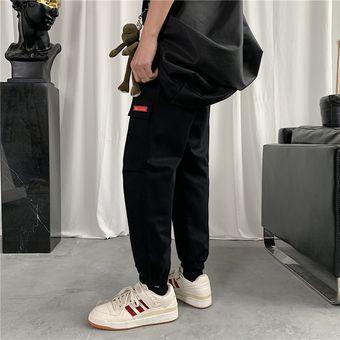 Cintura Elastica Multibolsillos Para Hombre Pantalones Tipo Cargo Negro Linio Peru Oe991fa0251r0lpe