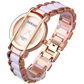 fb65e6cb11ce ER Las Mujeres Dama BARIHO T501 Pulsera De Acero Inoxidable Reloj De  Pulsera De Cuarzo Analógico