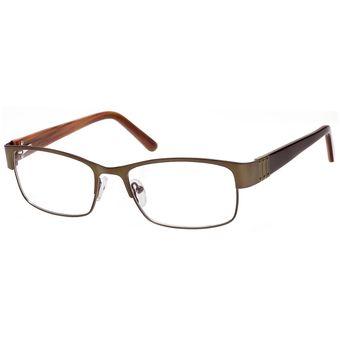 c0d7d5a72d0d0 Monturas Oftálmicas Para Lentes Opticos Formulados - Gafas Marco Café Mate  - 667B