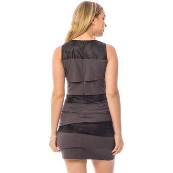 0a17db10ee Compra Vestido Casual Apparel Vestido Modelo 9101 Gris Con Negro ...
