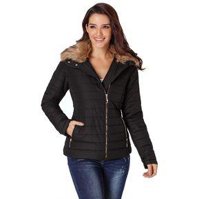 Chaqueta Abrigo con capucha para inviernoGenérico Mujer-Negro 0292405b094d