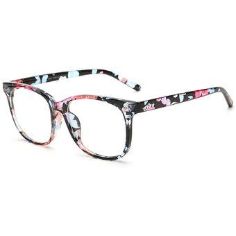 2c16e7e93d Agotado Moda Las Lentes ópticas Hipster Gafas Grande Cuadrado Los Anteojos  Marco Miopía -Floral