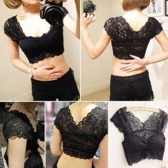 8d8646478f Floral Lace Bustier Top Bralette Strapless Bodycon Crop Top Party Corset Bra  Black White