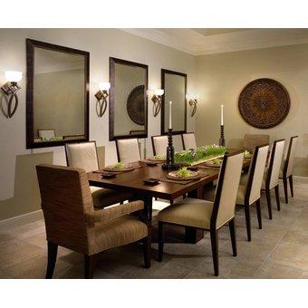 Comedor Kenia + 6 sillas tapizadas en dubai avory