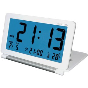 8df3e5042750 aq-141 Electronic reloj reloj de viaje plegable LCD gran pantalla multifuncion  reloj de escritorio
