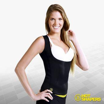Compra Fajas Mujer Cami Hot Negro Faja Camiseta Senos Libres Hot