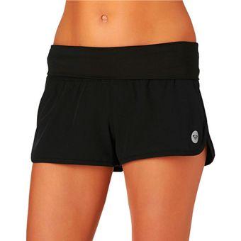 mejor sitio precio de fábrica 100% de alta calidad Shorts Mujer Longitud Corta Cinturón Tela Negro Liso Roxy