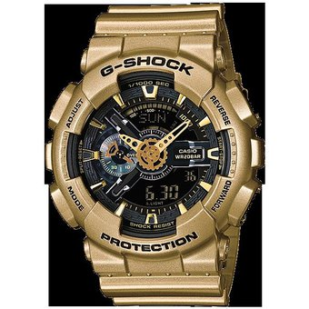 7eeb49ef96d5 Compra Reloj Casio G-Shock GA110 Dorado con Negro Resistencia Magn ...