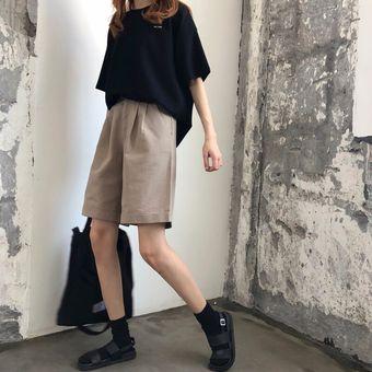 Pantalones Cortos De Mujer Sueltos A La Moda Elegantes Faciles D Linio Peru Un055fa0y664blpe